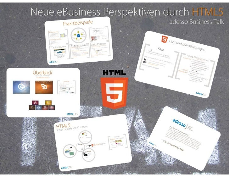 Neue EBusiness Perspektiven durch HTML5