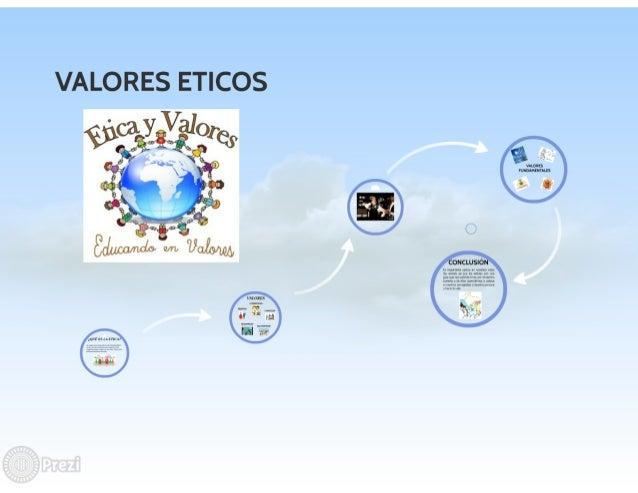 VALORES ETICOS