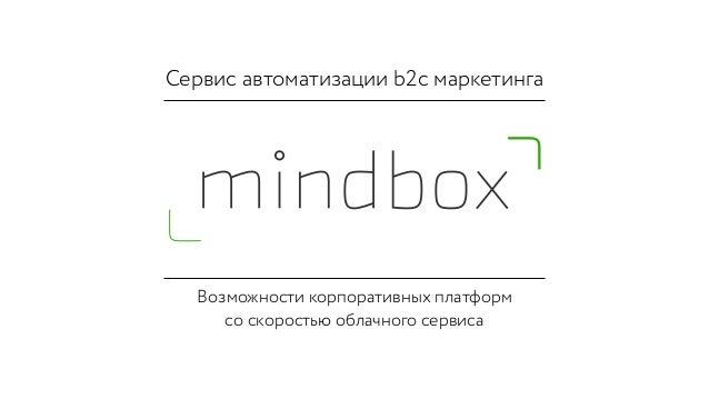 Сервис автоматизации b2c маркетинга Возможности корпоративных платформ со скоростью облачного сервиса