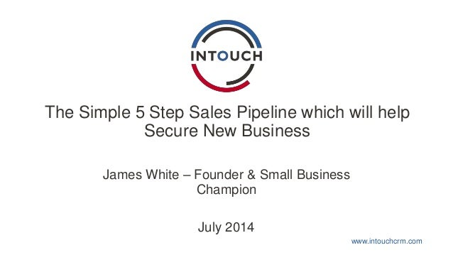 www.intouchcrm.com The Simple 5 Step Sales Pipeline which will help Secure New Business James White – Founder & Small Busi...