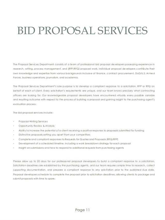 Bid Proposals. Contractor Bid Proposal 49+ Proposal Samples In Pdf