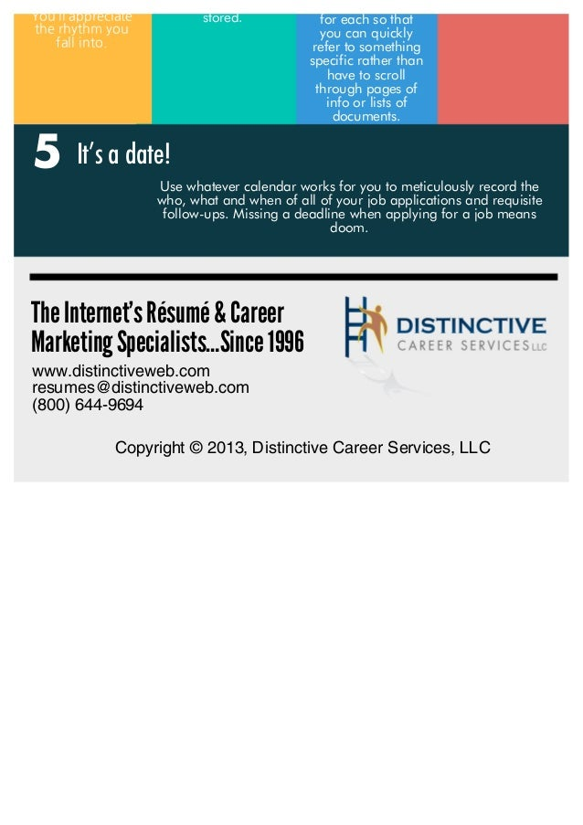 Your Simple 5-Step Checklist For An  Organized & Successful Online Job Search Slide 3