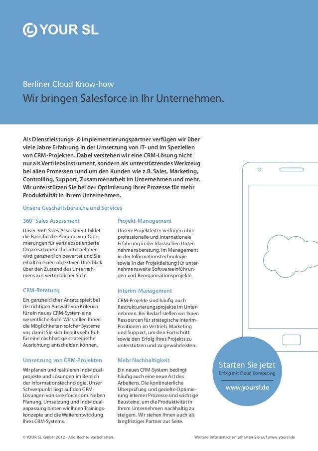 Berliner Cloud Know-how Wir bringen Salesforce in Ihr Unternehmen. Als Dienstleistungs- & Implementierungspartner verfügen...