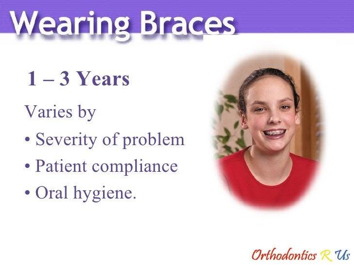 1 – 3 Years Varies by <ul><li>Severity of problem </li></ul><ul><li>Patient compliance </li></ul><ul><li>Oral hygiene. </l...