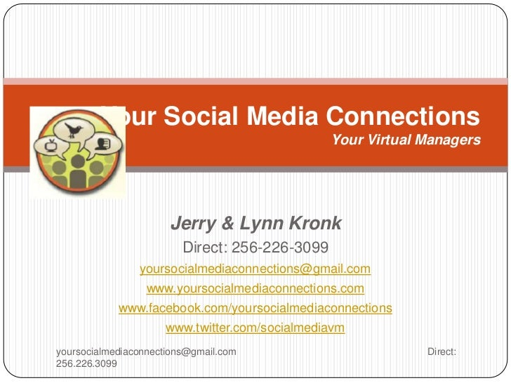 Your Social Media Connections                                                Your Virtual Managers                      Je...