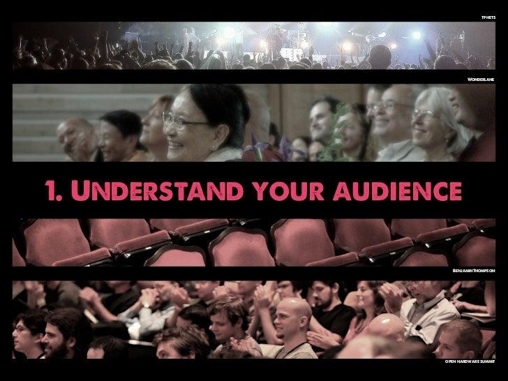 tphets                                 Wonderlane1. Understand your audience                           BenjaminThompson   ...
