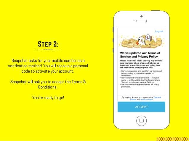 Step 2 Snapchat Asks For