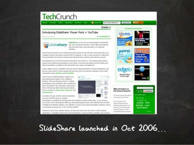 The SlideShare story