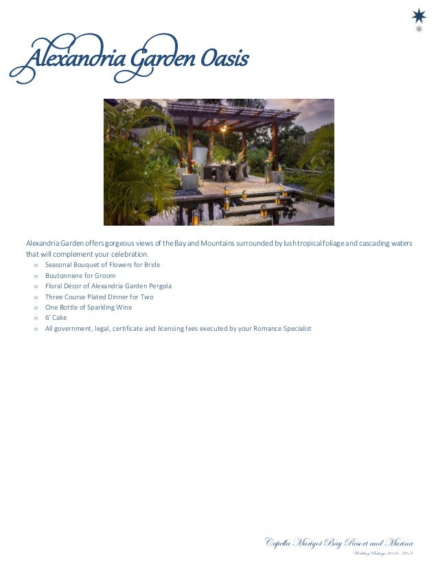 Romance Specialist 5 Capella Marigot Bay Resort And Marina Wedding Packages