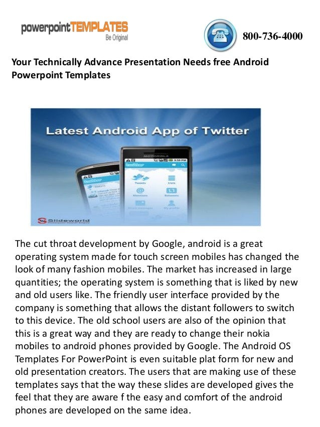Your Technically Advance Presentation Needs Free Android Powerpoint T