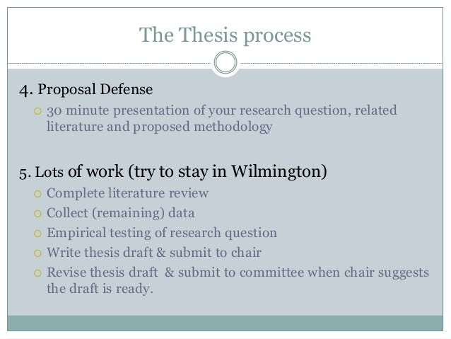 Purpose of a Thesis Committee