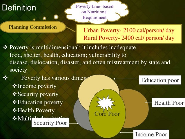 urban poverty vs rural poverty While poverty exists in both urban and rural areas, the characteristics of those living in poverty in these two places are distinctly different not only do rural areas have consistently higher rates of poverty than urban places, but those living in poverty in rural areas are more likely to be white and living in two-adult households.