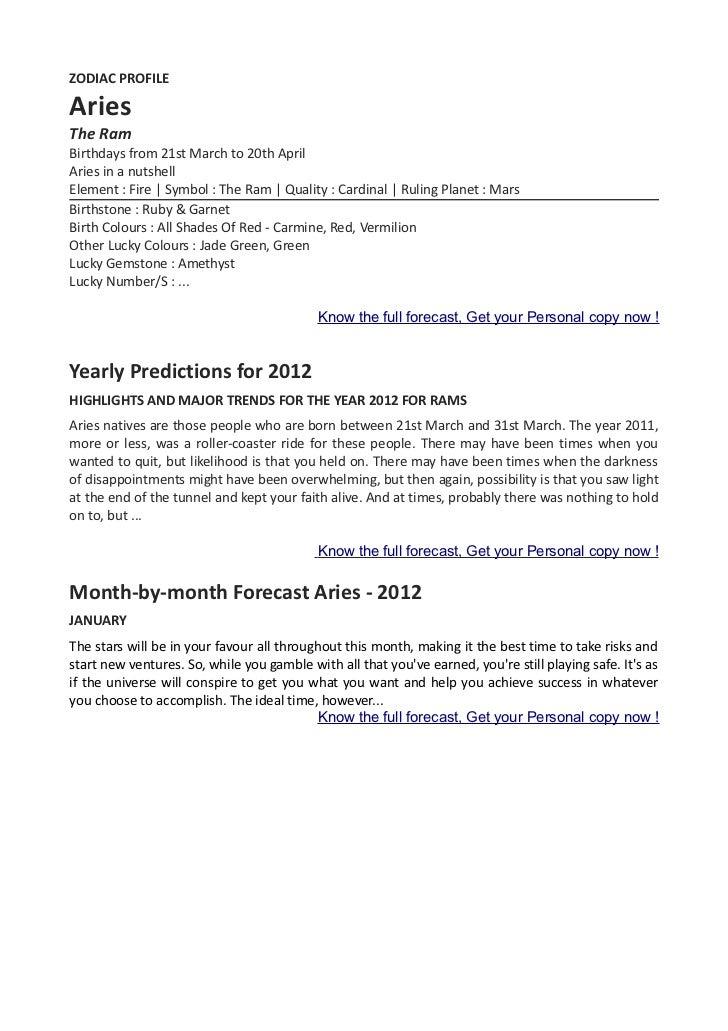 Your zodiac horoscope by ganehsa speaks com aries 2012