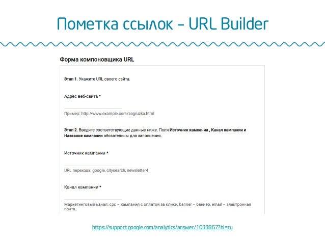 Пометка ссылок – URL Builder https://support.google.com/analytics/answer/1033867?hl=ru