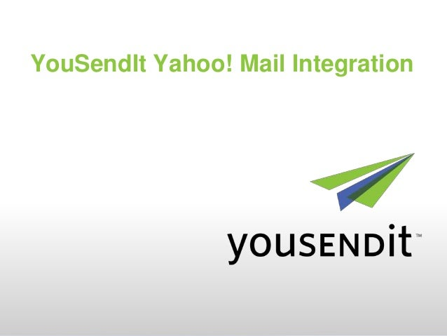 YouSendIt Yahoo! Mail Integration