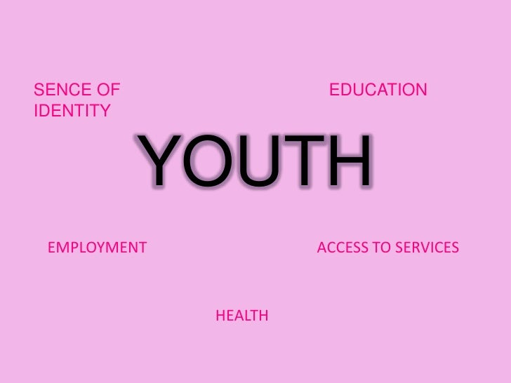 YOUTH <br />EDUCATION<br />SENCE OF IDENTITY <br />EMPLOYMENT<br />ACCESS TO SERVICES <br />HEALTH<br />