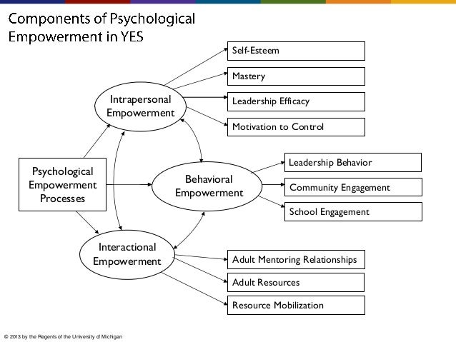 Self-Esteem Mastery  Intrapersonal Empowerment  Leadership Efficacy Motivation to Control  Psychological Empowerment Proce...