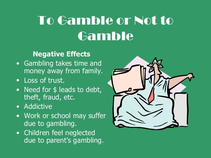 What are the effects of gambling casino reading maxim