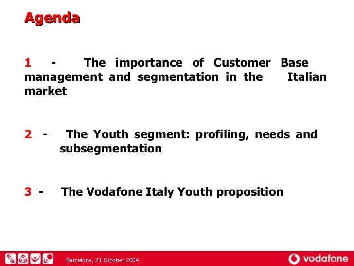 market and marketing of vodafone Vodafone is confident its new voxi sub-brand – a mobile network designed specifically for under-25s – will help grow its market share among young people brand positioning targeting & segmentation.
