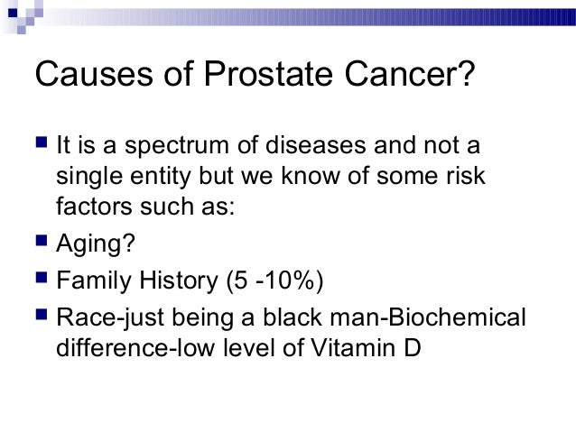 History of the prostate gland