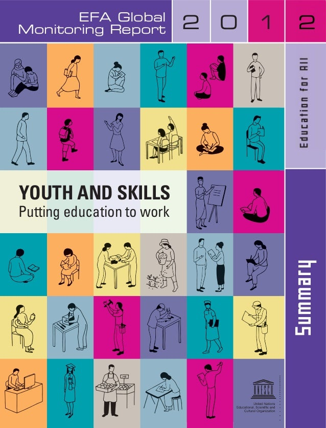 EFA Global Monitoring Report 2 0 1 2 YOUTH AND SKILLS Putting education to work