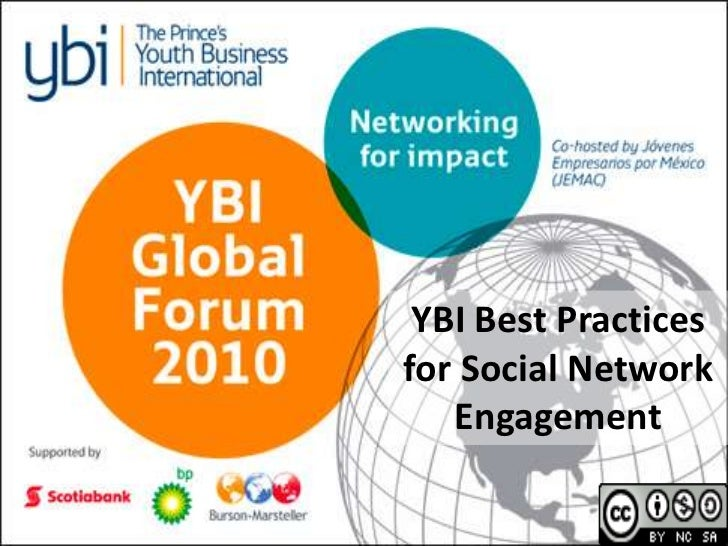 YBI Best Practices for Social Network Engagement<br />