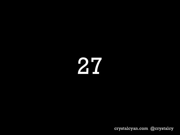 27 crystalcyan.com  @crystalcy