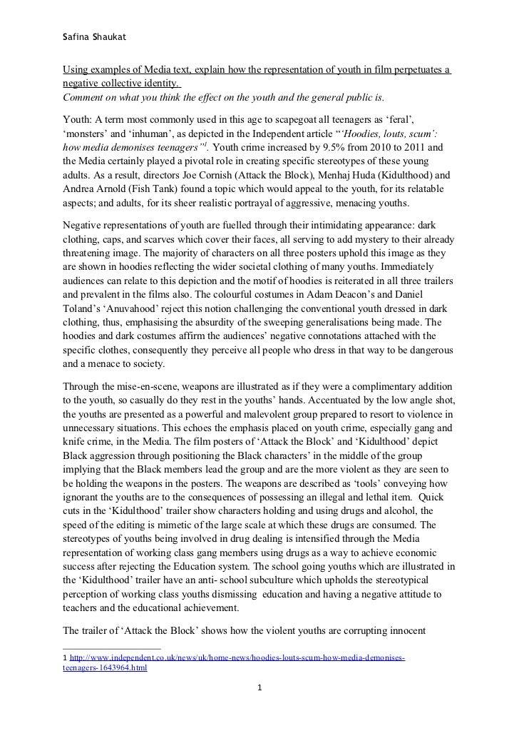 effect films youth essay
