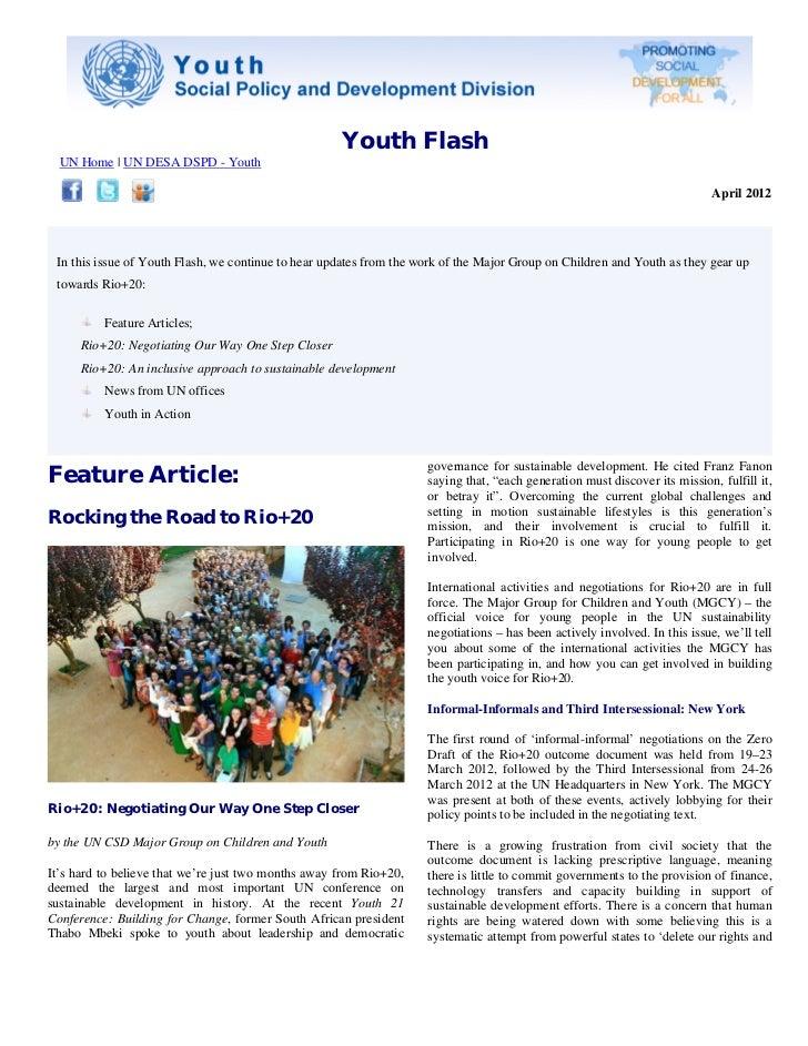 Youth Flash  UN Home   UN DESA DSPD - Youth                                                                               ...