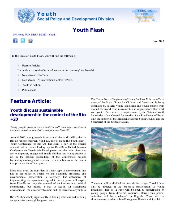 Youth Flash  UN Home | UN DESA DSPD - Youth                                                                               ...