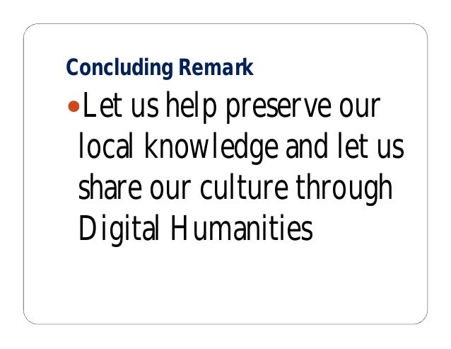 Promoting Digital Humanities in the Philippines