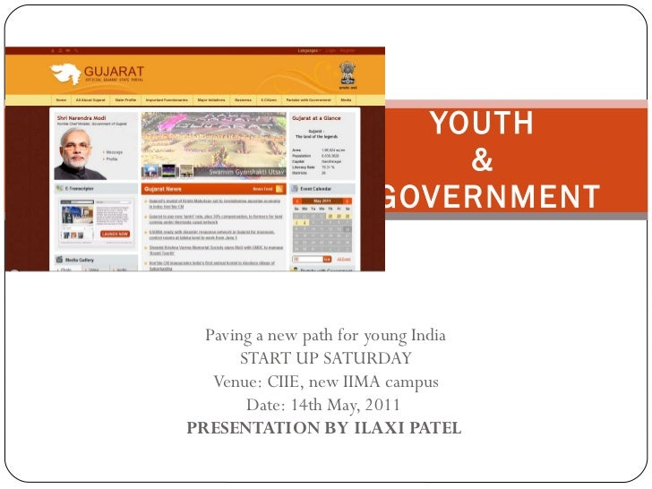 Paving a new path for young India START UP SATURDAY Venue: CIIE, new IIMA campus Date: 14th May, 2011  PRESENTATION BY ILA...