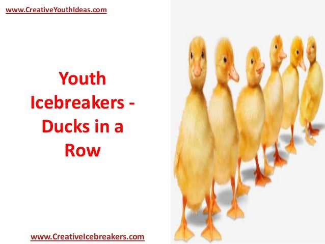 youth icebreakers ducks in a row