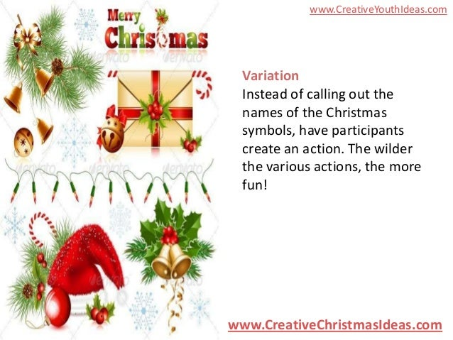 Youth Ideas Christmas Symbol Exchange
