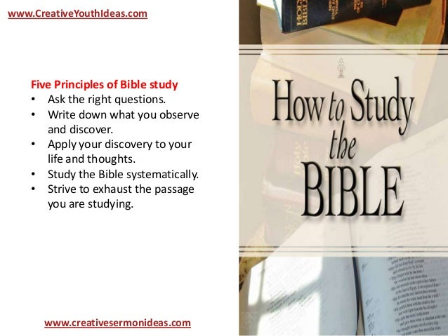 Youth Ideas - Teaching Youth How to Study the Bible (Basic
