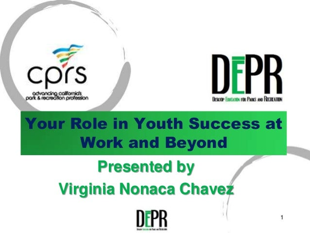 Your Role in Youth Success at      Work and Beyond         Presented by   Virginia Nonaca Chavez                          ...