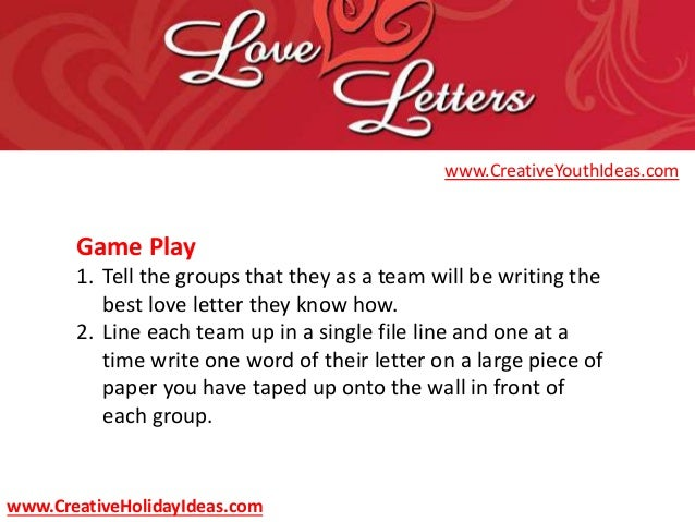 youth ministry ideas - valentine's day love letters, Ideas