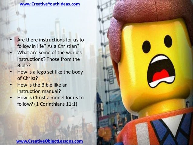 Youth Ministry Object Lesson Lego Instructions For The Christian Li