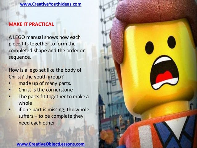 Youth Ministry Object Lesson - LEGO Instructions for the Christian Li…