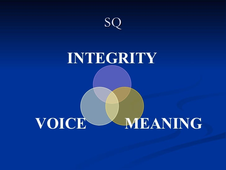 SQ INTEGRITY MEANING VOICE