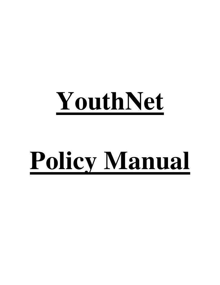 YouthNetPolicy Manual