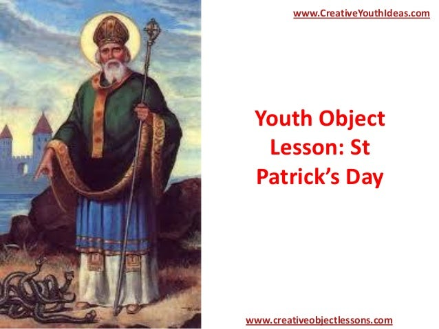 Youth Object Lesson: St Patrick's Day www.CreativeYouthIdeas.com www.creativeobjectlessons.com