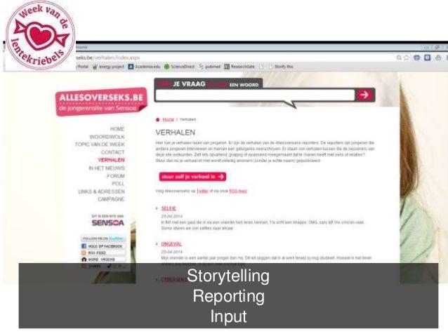 Storytelling  Reporting  Input