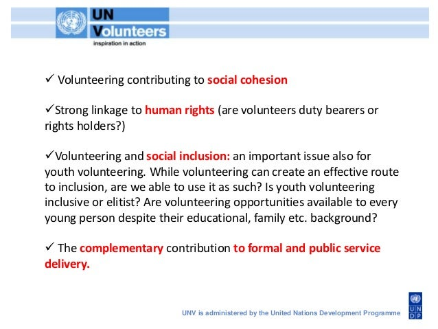 why is volunteering important in the public services
