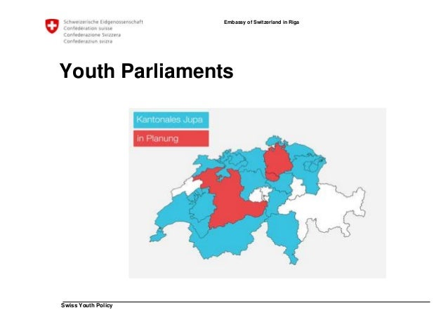 Swiss Youth Policy  Embassy of Switzerland in Riga  Youth Parliaments  Umbrella Organisation Swiss Youth Parliament  • Org...