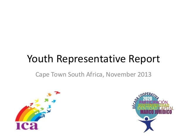Youth Representative Report Cape Town South Africa, November 2013
