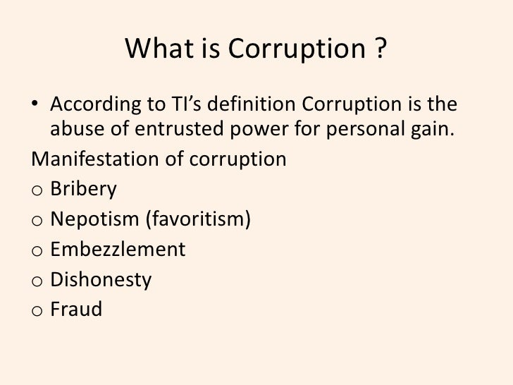 exploitation corruption and ethics in the Varying interpretations and create loopholes that can be exploited by corrupt  officials  in many customs administrations, there is no code of ethics that sets.