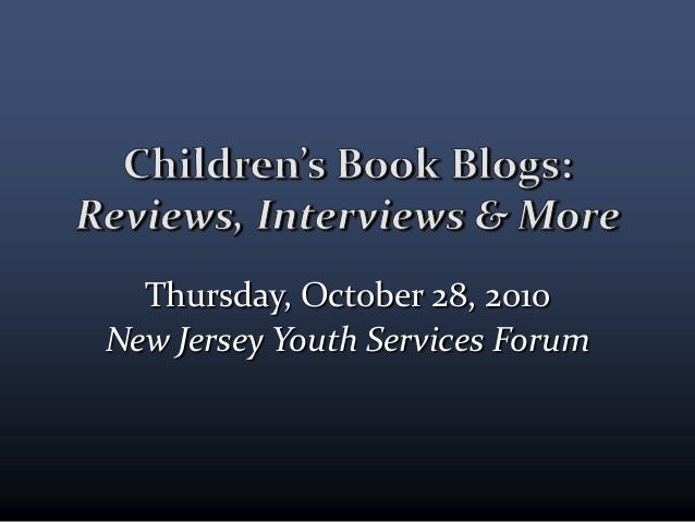 Thursday, October 28, 2010 New Jersey Youth Services Forum