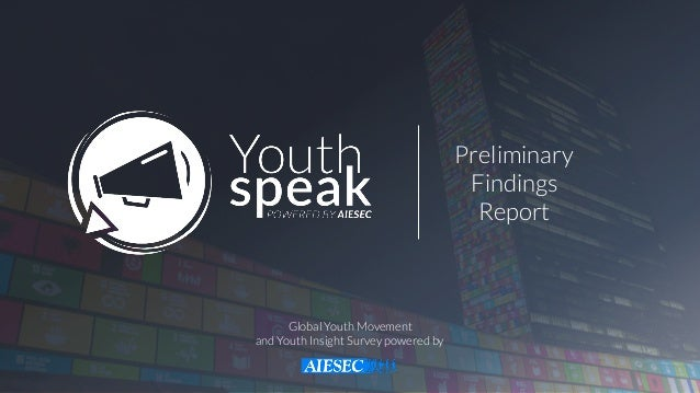 Preliminary  Findings  Report Global Youth Movement and Youth Insight Survey powered by