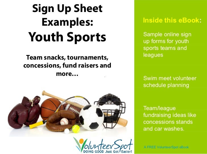 online sign up sheets for youth sports